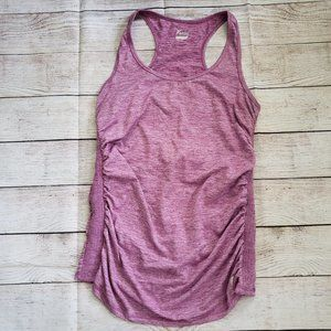 OLD NAVY heathered purple ruched side athletic top
